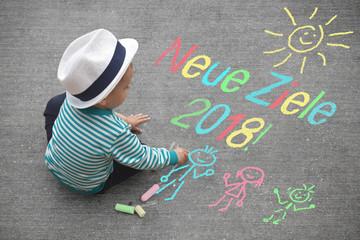 Kinderzeichnung - Neue Ziele 2018