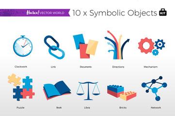 Collezione di Simboli Vector World