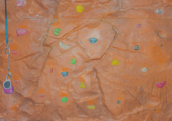 wall obstacles climbing brown