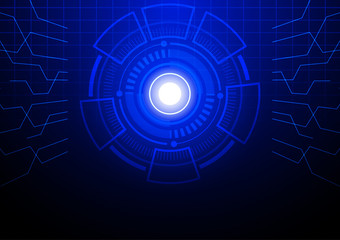 Futuristic abstract circle technology background