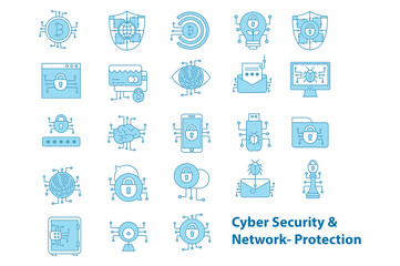 Cyber Security & Network Protection Icons