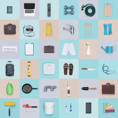 Objects and tools background