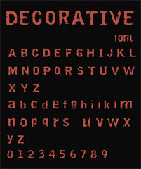 Horror Font - Scary Typewriter Alphabet