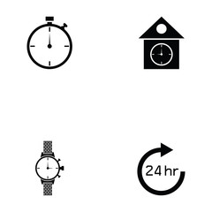 watch icon set