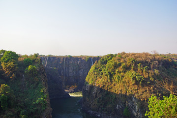 The Victoria Falls and Zambezi River in Zimbabwe, Africa