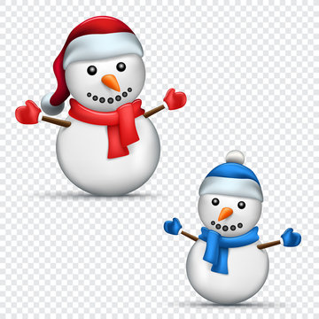 Christmas snowman transparent background