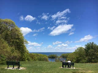 Caumsett State Park Overlooking Long Island Sound in LLoyd Harbor, New York