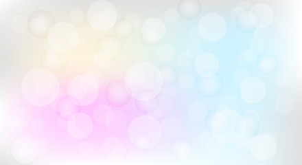Abstract bokeh on colorful background.