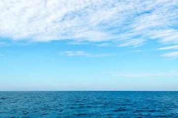 Beautiful water of the ocean with Sky at Koh ha, Similan No.5, a Group of Similan Islands in The Andaman Sea Thailand.