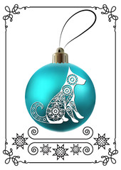 Graphic illustration with Christmas decoration 22