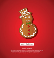 Christmas Background With Gingerbread Cookies Decoration