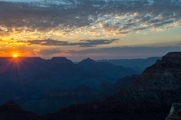 Sunrise in Grand Canyon National park