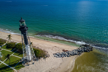 Hillsboro Lighthouse aerial image