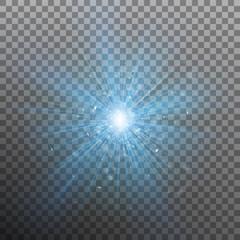 Blue burst color forces light. EPS 10 vector