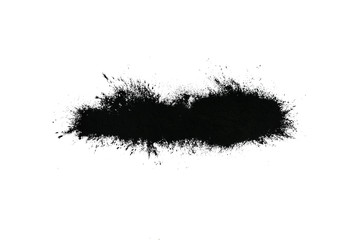 Black powder isolated on white background.