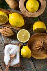 Juicy ripe lemons.