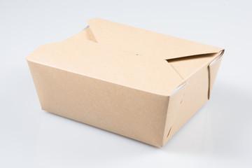 Takeaway food Box On White Background