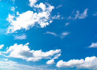 Sky , blue sky background with clouds , Sky with clouds on the Sea in summer season
