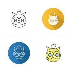 Sleeping owl icon
