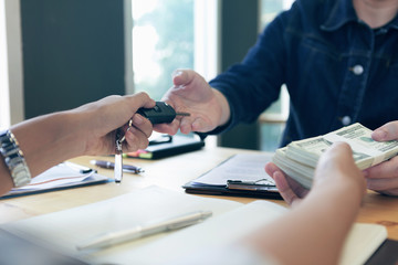 Customers are getting money from car loans.