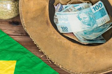 Brazilian money, reais, high nominal