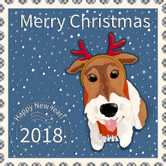 Postage stamp with the fox terrier 1