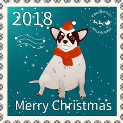 Postage stamp with chihuahua 1