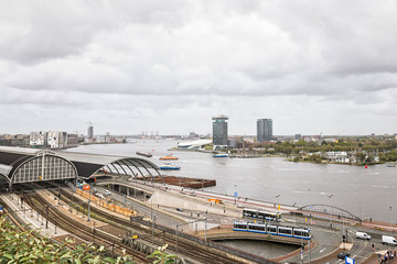 View over Amserdam Central Station