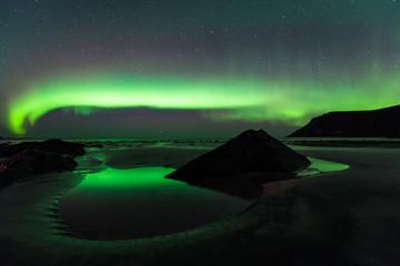 Northern lights in the lofoten islands, Norway