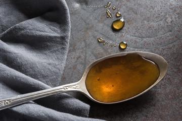 Honey on vintage spoon