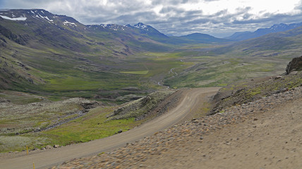 Valle Breiddalur en Islandia