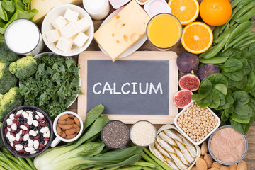 Calcium food sources, top view