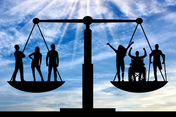 Concept of social equality of disabled people in society