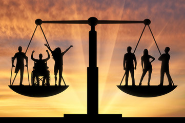 Concept of social b legal equality of persons with disabilities in society