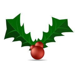 Holly berry. Christmas symbol vector