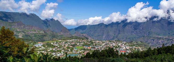 Cirque de Cilaos in La Reunion island