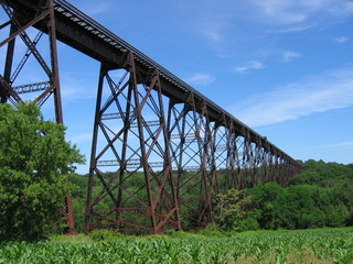 An old train trestle in upstate New York