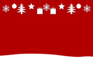Weihnachts Hintergrund mit Ornamenten und Schnee