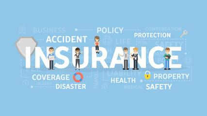 Insurance concept illustration.