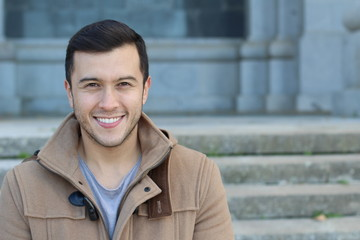 Healthy ethnic guy with a gorgeous smile