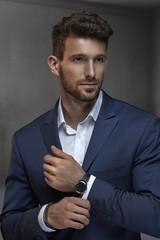 Portrait of a handsome, smart businessman