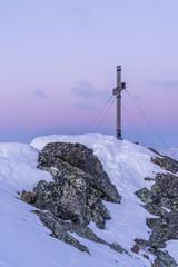 Morgens auf dem Gipfel