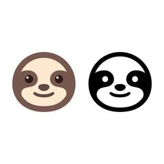 Sloth face icon