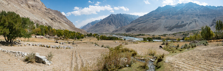 Within the Wakhan Corridor, Afghanistan, view from the fields