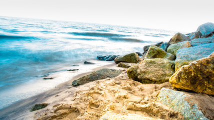 Widok na brzeg morza