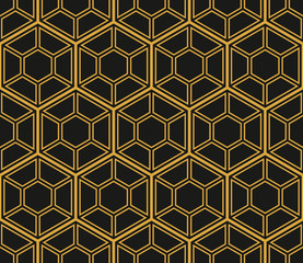 TemplAbstract geometric background. Hexagonal mesh with embedded cells. Vector seamless illustration. Rhythmic repeating pattern. Modern style for geometric templates.Setate_clear