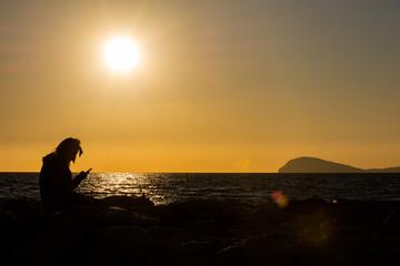 Marina di Minturno, LT tramonto