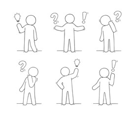 little people with communication signs