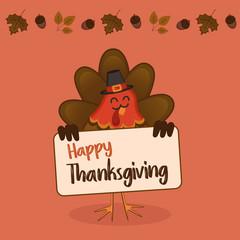thanksgiving day turkey illustration