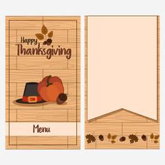Thanksgiving day card menu